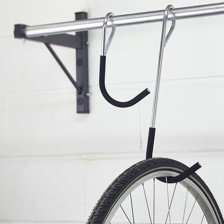 Rack à vélo mural coulissant crochet