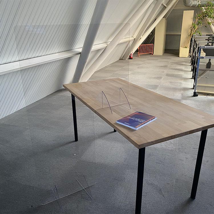 Paroi vitrée pour séparation de bureau - H. 137 x L. 85 cm