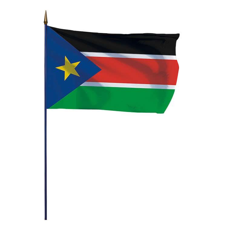 Drapeau Sud Soudan sur hampe