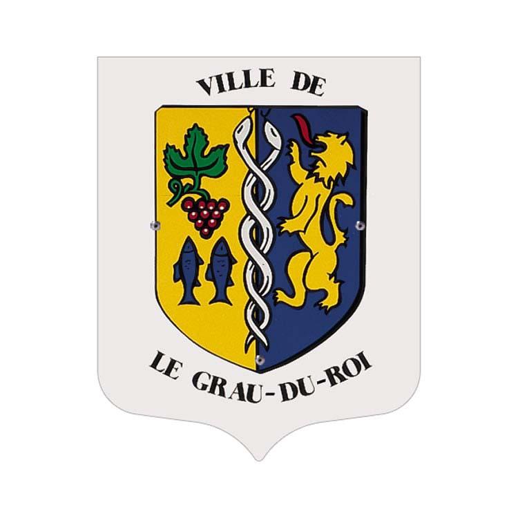 Ecusson porte-drapeaux personnalisé - Ecusson seul