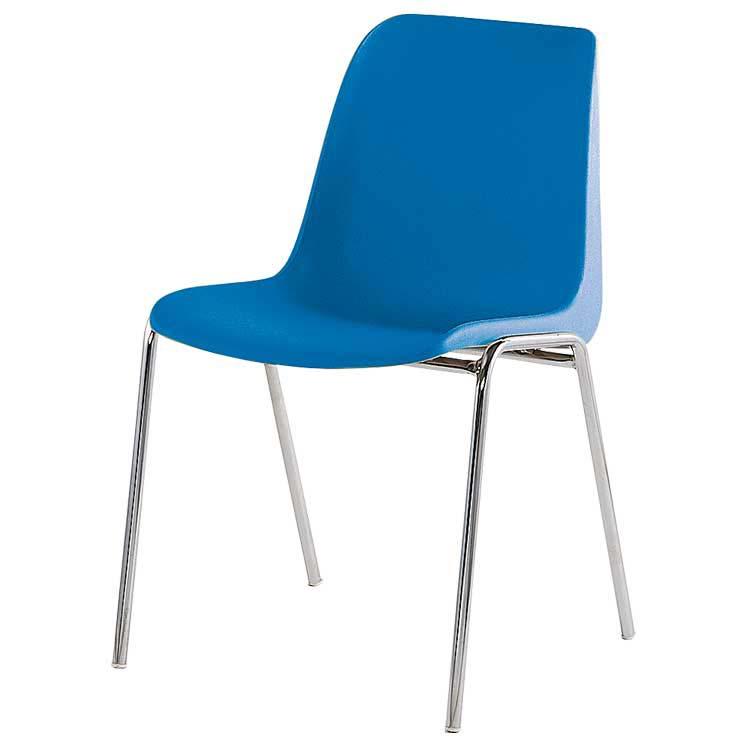 Chaise coque renforcée M2 bleu