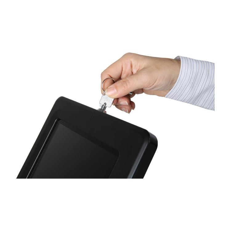 système de verrouillage clé support tablette