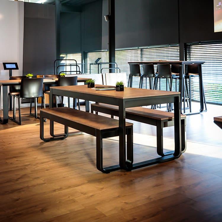 Set table de réception + bancs Flow ambiance