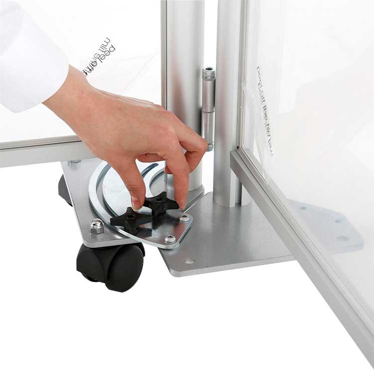Zoom connecteur d'angle pour paroi de séparation vitrée