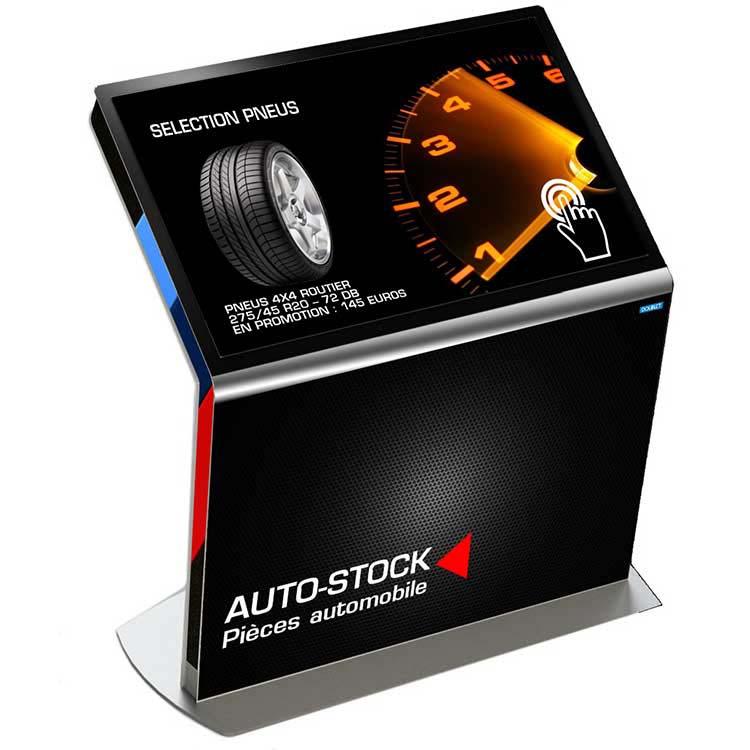 Borne tactile DP Auto-Stock - Affichage dynamique