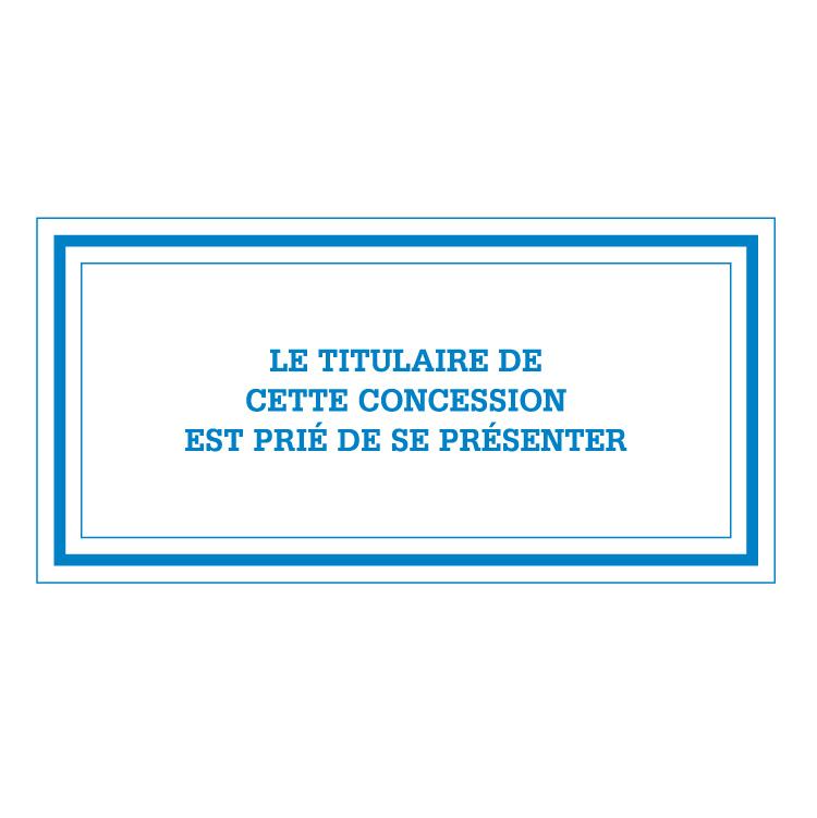 Plaque bleue pour concession