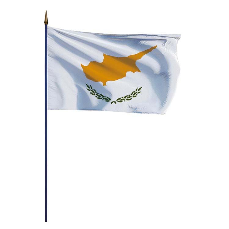 Drapeau Chypre sur hampe