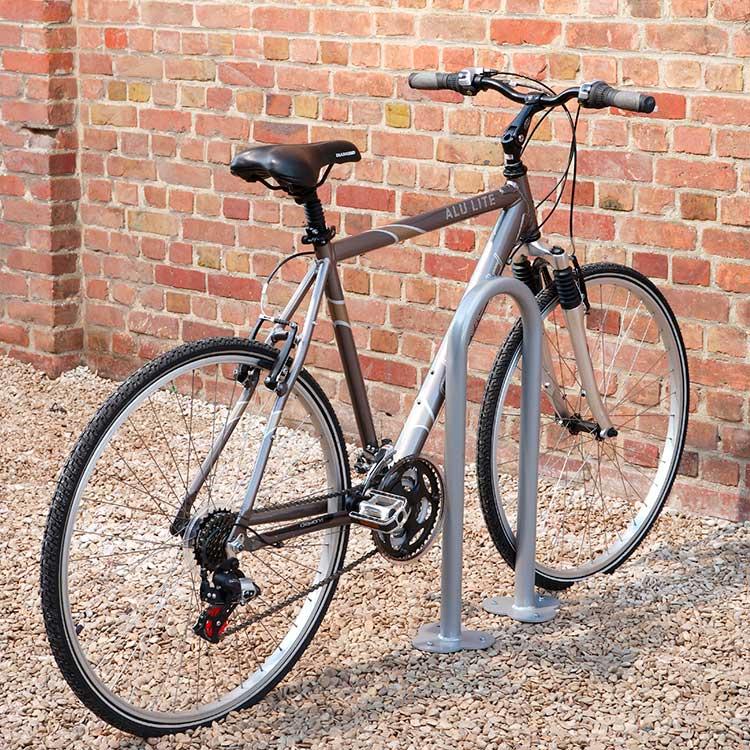 Lot de 2 arceaux simple vélos rond en U