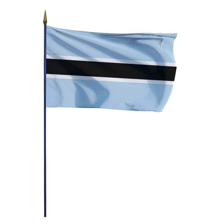 Drapeau Botswana sur hampe