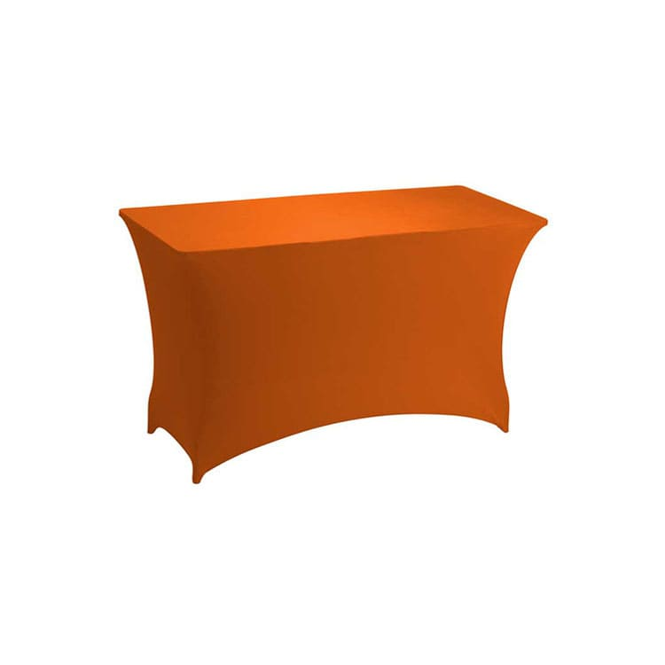 Housse stretch orange pour table pliante rect. 122 x 76 cm