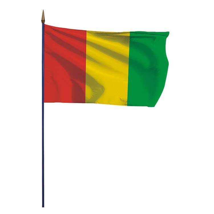 Drapeau Guinée sur hampe