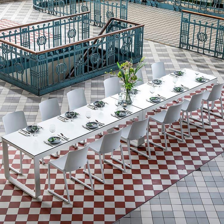 Table pliante Flow blanc ambiance