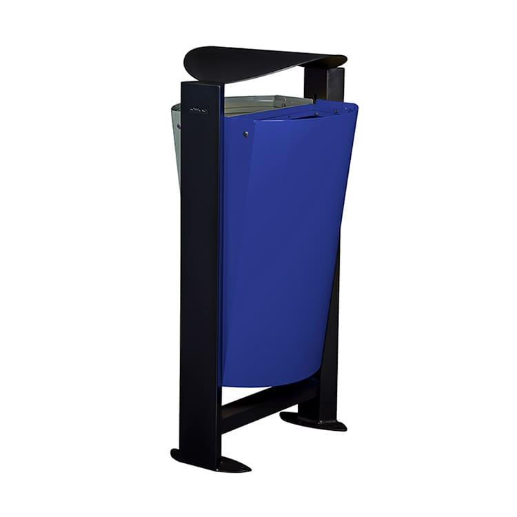 Support sac-poubelle Arkea Métal Gris/bleu - 2 x 60 L