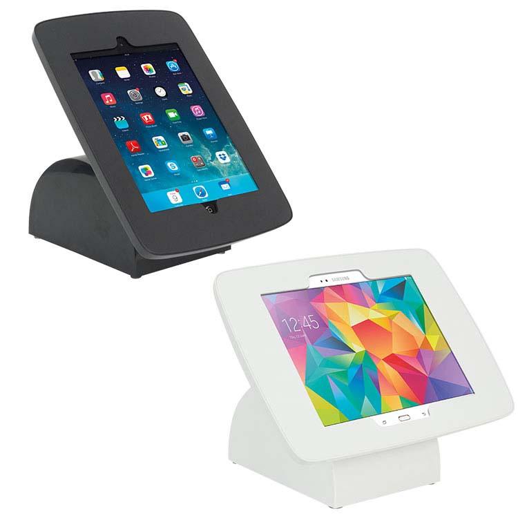 Support pour tablette numérique noire et blanche