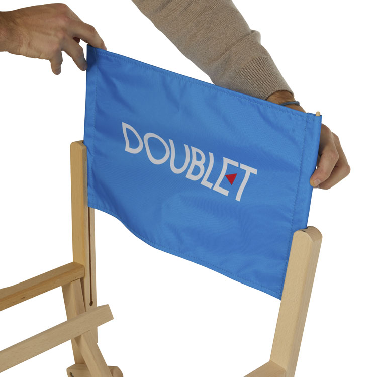 Visuel interchangeable pour chaise réalisateur Cannes