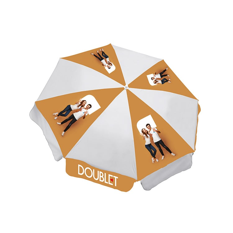 Parasol publicitaire imprimé Domino's Pizza