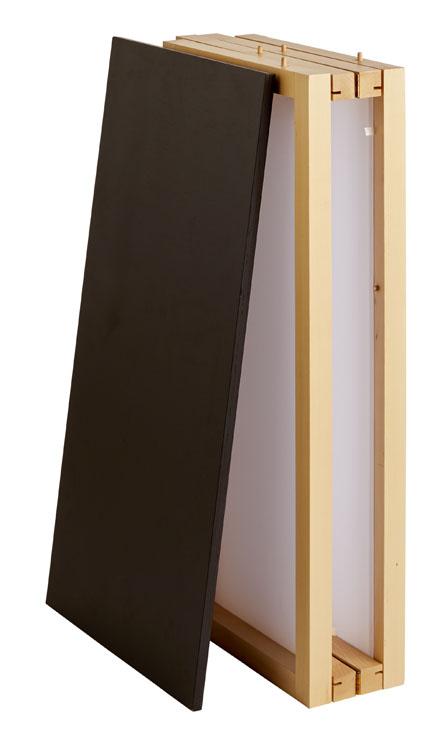 Comptoir pliant bois Natural plié + étagère