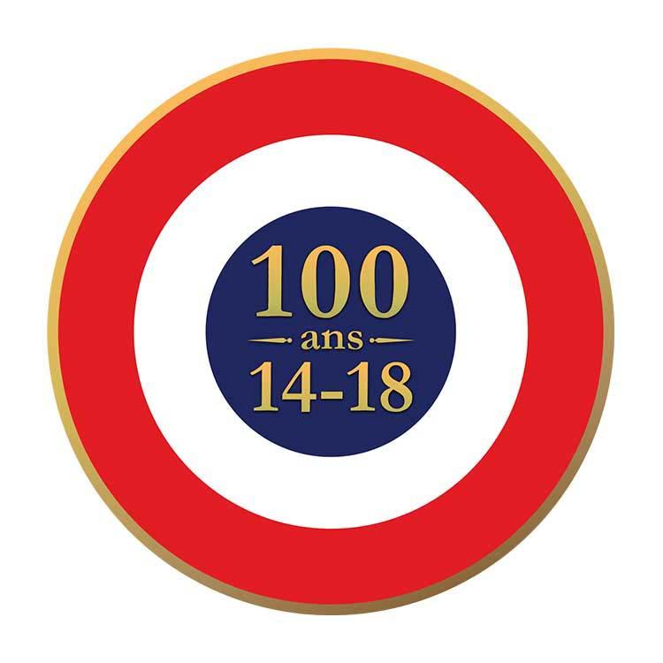 Cocarde tricolore autocollante centenaire 14/18
