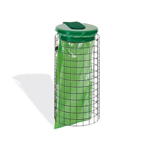 habillage support sacs poubelle grille