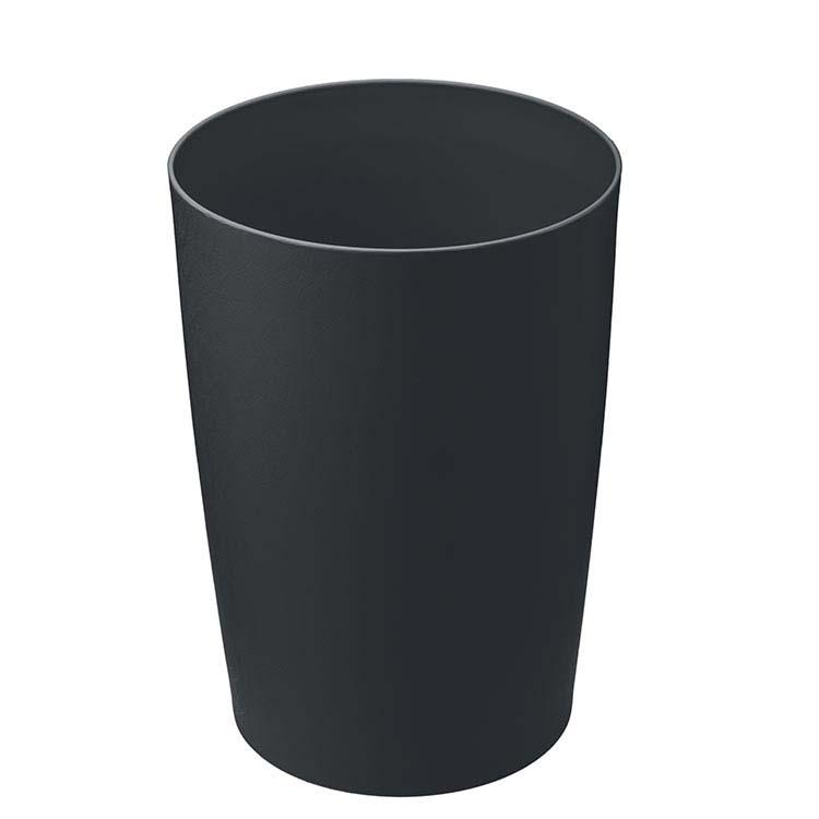 Corbeille plastique cyl. anti-feu noir - 8 litres