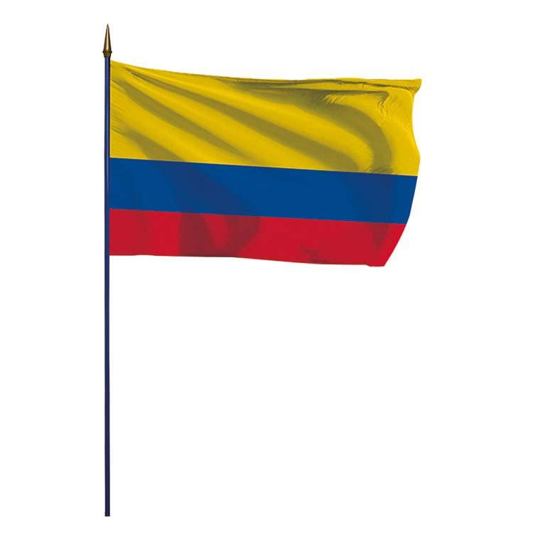 Drapeau Colombie sur hampe