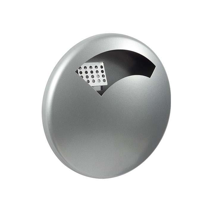 Cendrier mural Disco gris métal 9006 - 0,5 litres