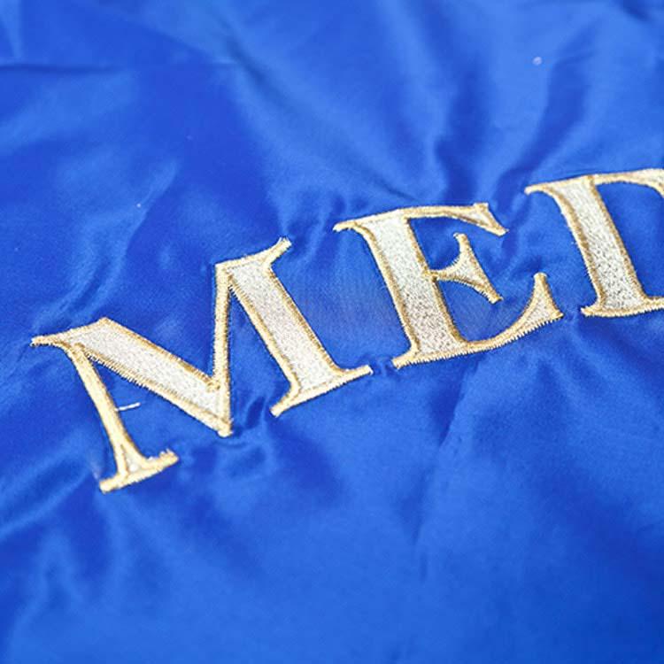 Broderie drapeau d'association Prestige