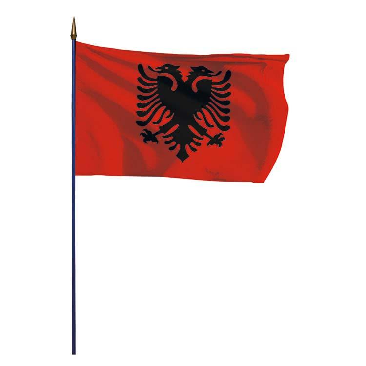 Drapeau Albanie sur hampe