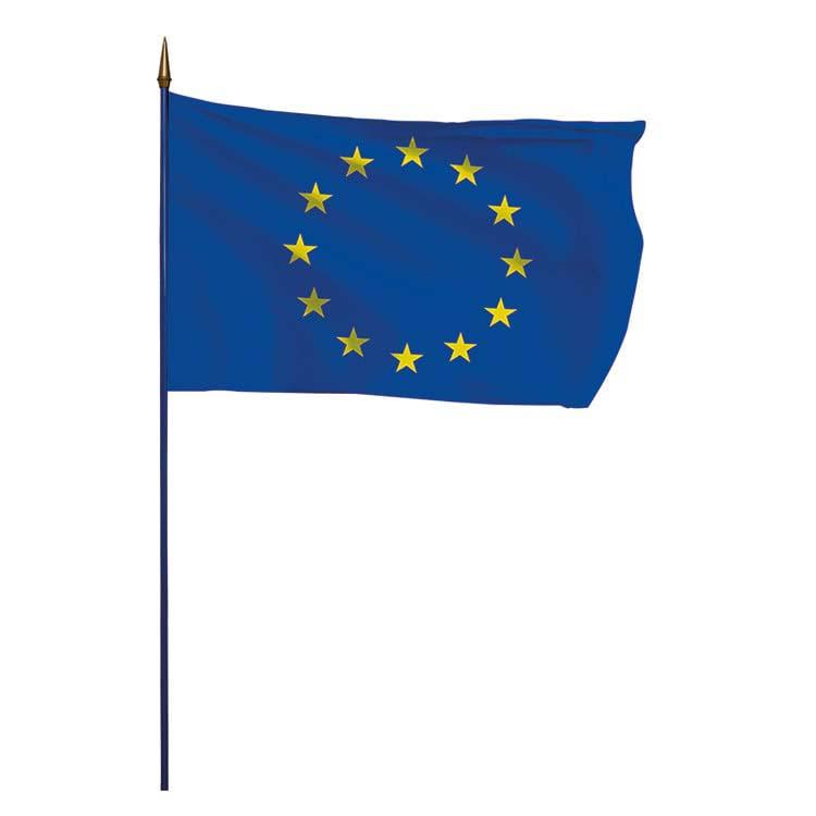 Drapeau sur hampe de l'Europe