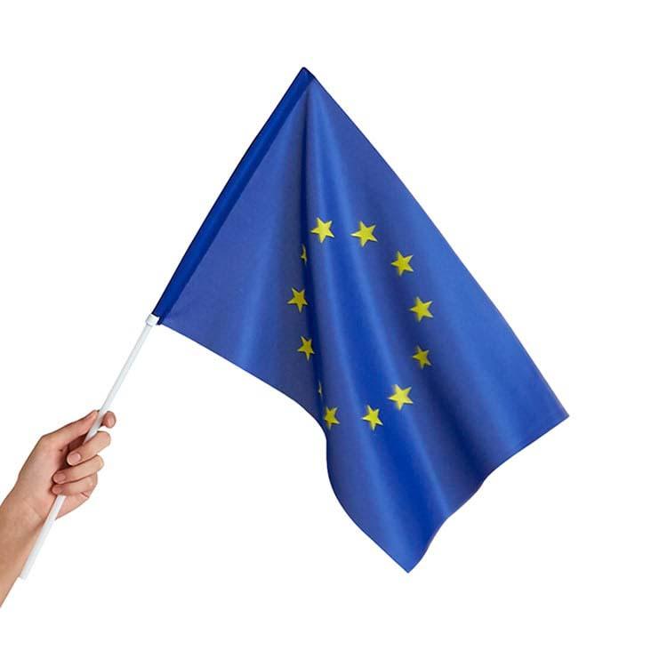 Drapeau européen de supporter en tissu