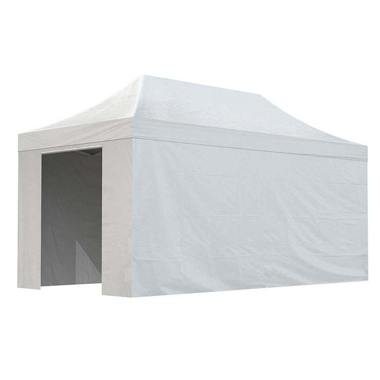 Tente Eos fermée 3 x 6 m - bâche PVC unie blanche