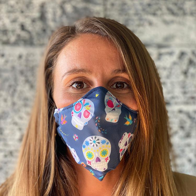 Masque tissu ColleKtor tête de mort
