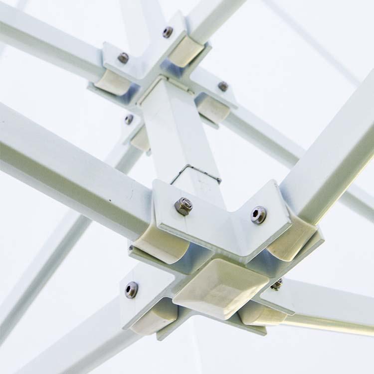 Croisillons de la tente pliante Eos ouverte - Toile Polyester unie blanche