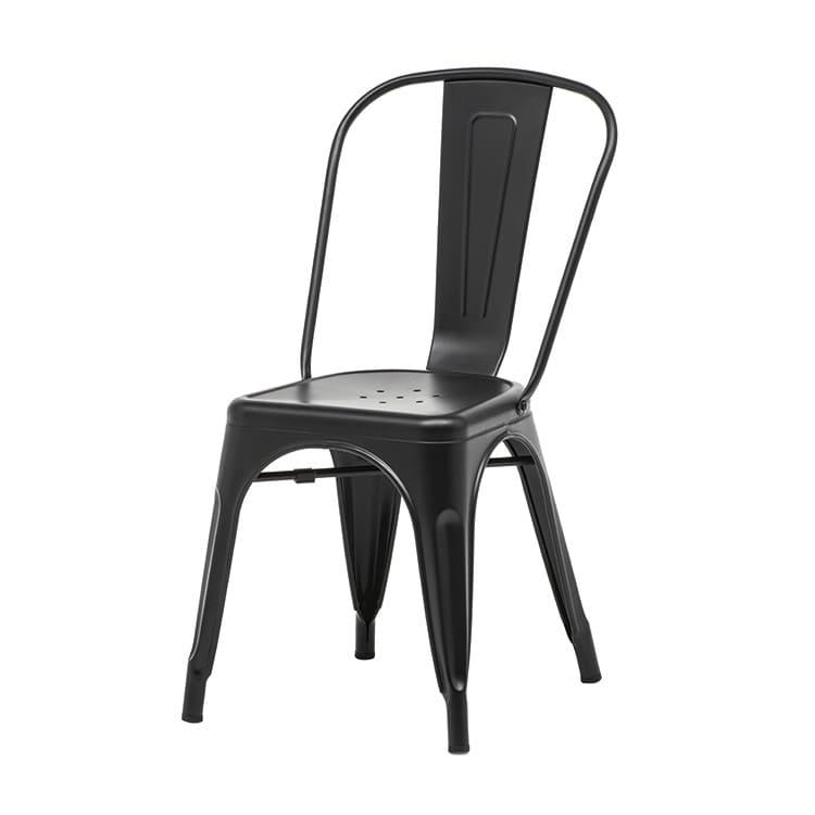 Chaise empilable Tolix noire