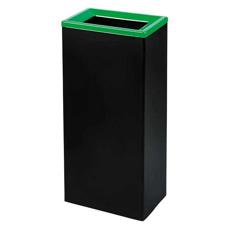 Corbeille Quadratri noir/couv. vert - 42 litres