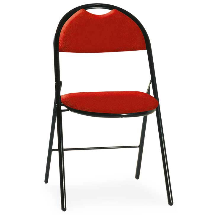 Chaise Roma vinyle assemblable M2 rouge